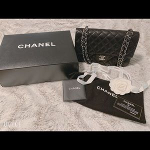 AUTHENTIC CHANEL MED. CLASSIC  SAC CLASS RABAT